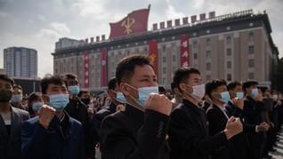 Warga Korut Pakai Masker untuk Pertama Kali sejak Pandemi