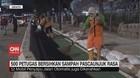 VIDEO: 500 Petugas Bersihkan Sampah Usai Demo