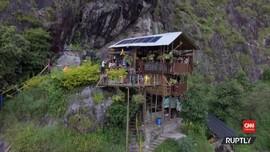 VIDEO: Penginapan Ekstrem, Hostel Menggantung di Tepi Bukit