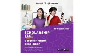 Zenius-Telkomsel Gelar Tes Berhadiah Beasiswa untuk Siswa SMA