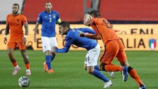 Foto: Italia vs Belanda Tanpa Pemenang