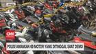 VIDEO: Polisi Amankan 69 Motor Yang Ditinggal Saat Demo
