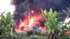 VIDEO: Sumur Minyak Pertamina Terbakar, 1 Pekerja Luka Bakar