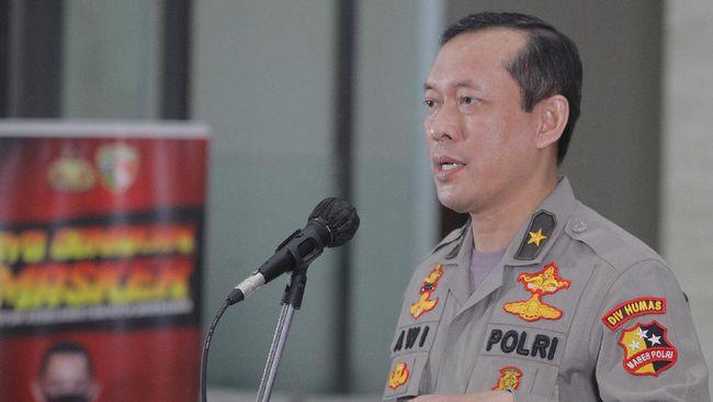 Karopenmas Polri Brigjen Awi Setiyono angkat suara soal nama Kabareskrim disebut dalam persidangan Djoko Tjandra.