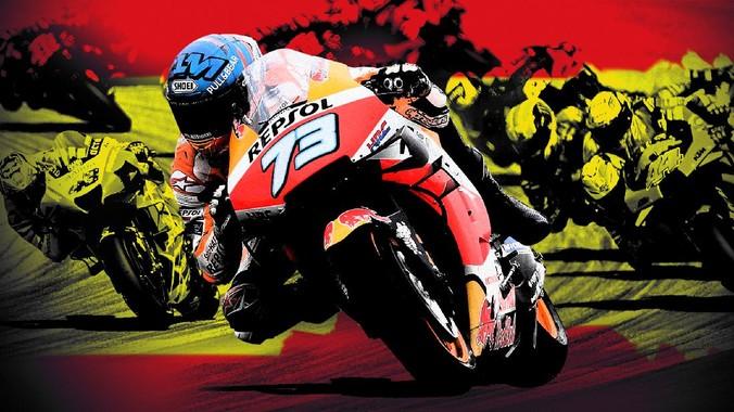 Pembalap Suzuki Alex Rins keluar sebagai juara MotoGP Aragon di Sirkuit Motorland Aragon, Minggu (18/10).