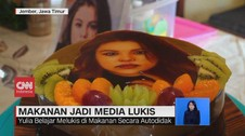 VIDEO: Unik, Makanan Puding jadi Media Lukis