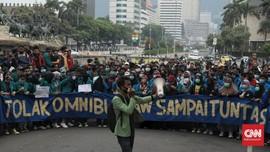 Setahun Jokowi, Ribuan Buruh dan Mahasiswa Bergerak ke Istana