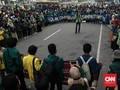 Mahasiswa Gagal Tembus Istana, Demo Diadang Kawat Berduri