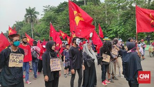 Demo Serikat Rakyat Miskin Tolak Omnibus: RIP Hati Nurani DPR