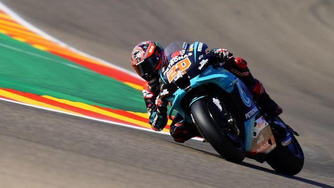 Pembalap Petronas Yamaha Fabio Quartararo wajib menyapu bersih tiga seri terakhir untuk jadi juara dunia MotoGP 2020.