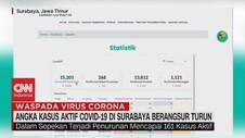 VIDEO: Angka Kasus Aktif Covid-19 di Surabaya Berangsur Turun
