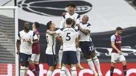 Hasil Liga Inggris: Tottenham Ditahan Imbang West Ham 3-3