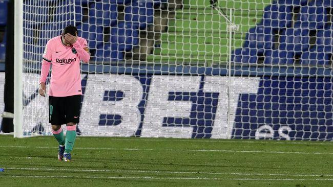 Catatan gol Lionel Messi dalam beberapa duel Barcelona melawan Getafe di Liga Spanyol kurang apik.