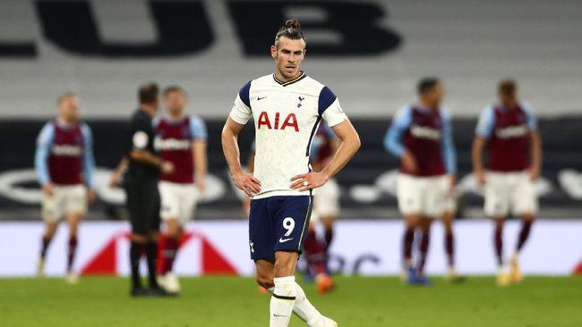 Gareth Bale menjadi salah satu penyebab kegagalan Tottenham Hotspur menang atas West Ham United, Minggu (18/10).