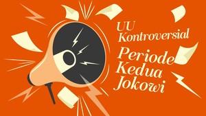 INFOGRAFIS: UU Kontroversial Setahun Jokowi-Ma'ruf