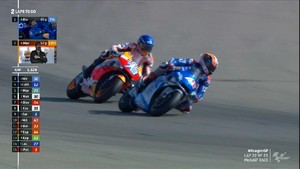 VIDEO: Duel Sengit Rins vs Alex Marquez di MotoGP Aragon