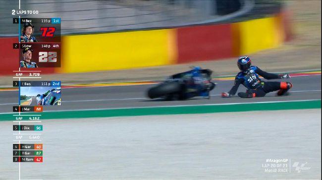 VIDEO: Tim VR46 Milik Rossi Hancur di Moto2 Aragon