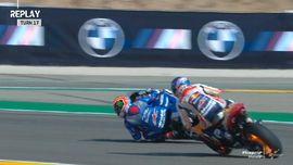 VIDEO: Detik-detik Alex Marquez Nyaris Jatuh di MotoGP Aragon