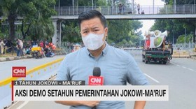 VIDEO: Aksi Demo Setahun Pemerintahan Jokowi-Maruf