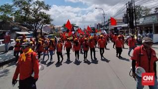 Buruh Bandung Long March, Sempat Tutup Jalan Rancaekek
