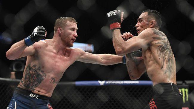 Justin Gaethje menantang Conor McGregor untuk bertarung usai dikalahkan Khabib Nurmagomedov pada UFC 254.
