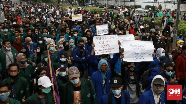 Polda Metro Jaya tidak menerbitkan surat tanda terima pemberitahuan (STTP) demonstrasi mahasiswa tolak Omnibus Law Cipta Kerja, esok, di Jakarta.