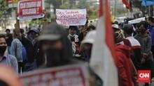 Demo Omnibus Law di Banyuwangi Ricuh, Para Pedemo Ditangkap