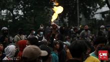 Polisi Antisipasi Perusuh Susup Demo Tolak Omnibus Law