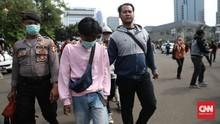 Polisi Masih Tahan 67 Peserta Demo Omnibus Law di Jakarta