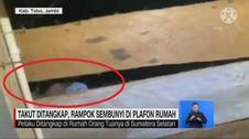 VIDEO: Takut Ditangkap, Rampok Sembunyi di Plafon Rumah