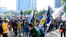 VIDEO: Unjuk Rasa Mahasiswa Tuntut Jokowi Keluarkan Perpu