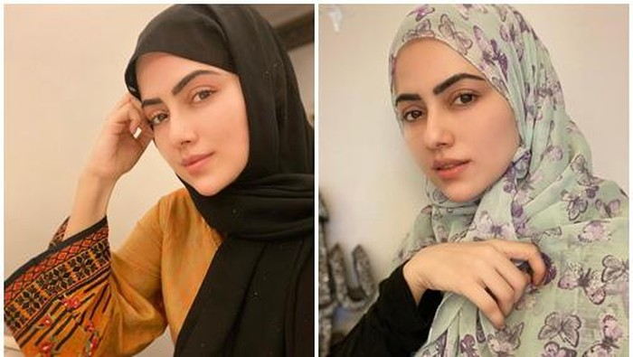 8 Potret Cantik Sana Khan, Artis Bollywood yang Putuskan Berhijab