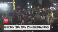 VIDEO: Demo di Depan Istana Bogor Dibubarkan Paksa