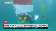 VIDEO: HUT ke-56, Partai Golkar Kibarkan Bendera Bawah Laut