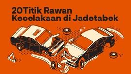 INFOGRAFIS: 20 Titik Rawan Kecelakaan di Jadetabek