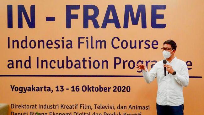 Kemenparekraf menggelar IN-FRAME bagi komunitas film dan pengelola desa wisata dalam upaya memaksimalkan desa wisata sebagai lokasi produksi film.