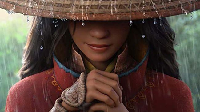 Sosok perempuan berpedang terpampang di poster Raya and the Last Dragon, film Disney yang terinspirasi dari berbagai mitos Asia Tenggara, termasuk Indonesia.