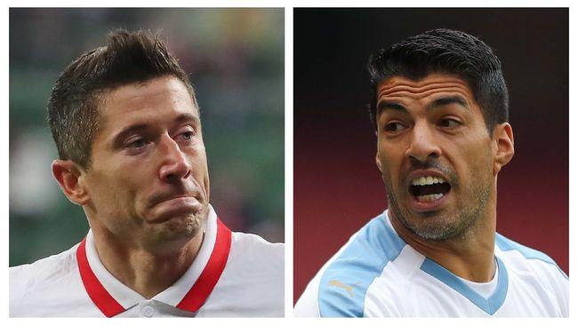 Duel Bayern Munchen melawan Atletico Madrid di pertandingan pertama Grup A Liga Champions jadi ajang pembuktian Lewandowski versus Suarez.