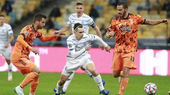 Juventus ditahan imbang Dynamo Kiev pada babak pertama pertandingan Grup G Liga Champions, Rabu (21/10) dini hari waktu Indonesia.