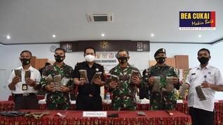 Sinergi Bea Cukai dan TNI Tangkap Penyelundup Ganja di Papua