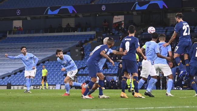 Manchester City meraih kemenangan 3-1 atas FC Porto dalam laga Liga Champions Grup C di Stadion Etihad, Kamis (22/10) dini hari WIB.