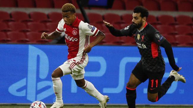 Liverpool menang tipis 1-0 atas Ajax Amsterdam dalam pertandingan Liga Champions Grup D, Kamis (22/10) dini hari waktu Indonesia.