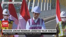VIDEO: Presiden Jokowi Resmikan Jembatan Teluk Kendari