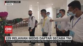 VIDEO: 129 Relawan Medis Daftar Secaba TNI
