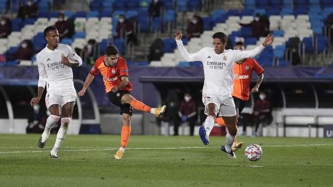 Real Madrid secara mengejutkan takluk 2-3 dari Shakhtar Donetsk pada laga pertama Grup B Liga Champions di Stadion Alfredo di Stefano, Selasa (21/10).