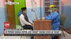 VIDEO: 20 Persen Warga Depok jadi Target Vaksin Covid-19
