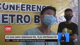 VIDEO: Aksi Buang Sampah Viral, Pelaku Menyerahkan Diri