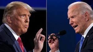 FOTO: Adu Argumen Trump-Biden di Debat Pilpres Terakhir