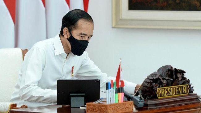 Akibat pandemi Covid-19, Jokowi menyebut pertumbuhan ekonomi Indonesia melambat jadi 2,97 persen triwulan pertama, dan minus 5,32 persen triwulan kedua.