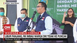 VIDEO: Libur Panjang, RK Imbau Warga DKI Tidak Ke Puncak